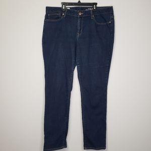 Gap dark wash curvy skinny jeans